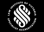 Law Institute of Victoria Accredited Immigration Law Specialist Circular Logo - Black