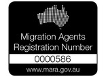 Migration Agents Registration Number 0000586 Logo - Black