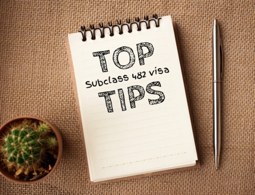 Top tips for new subclass 482 visa